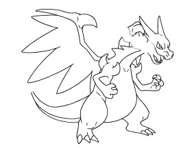 pokemon coloring pages5|Mega Charizard - coloring-pages