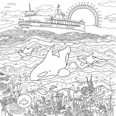 Coloring Pages Legendary Landscapes Colouring Grows Up Landscape