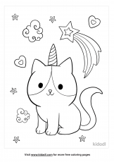 Caticorn Coloring Pages | Free Unicorns Coloring Pages | Kidadl