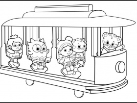daniel tiger coloring sheets gianfreda 12738 - Gianfreda.net