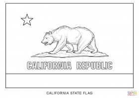 California State Flag To Print And Color