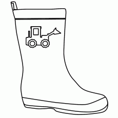 Best Photos of Boots Coloring Pages - Winter Coloring Page Cowboy ...