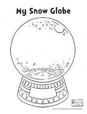 Snow Globe Coloring Pages - HiColoringPages