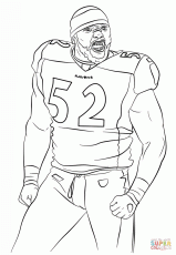 Ray Lewis - Baltimore Ravens Coloring Pages