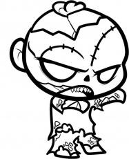 Big Headed Zombie Coloring Pages | Zombie coloring | Pinterest ...