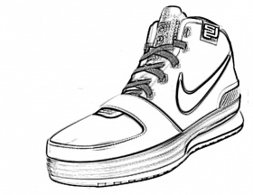 Gorgeous Coloring Pages Of Kd Shoes Copy Coloring Pages Nike ...