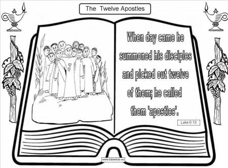 Twelve Apostles Coloring Page