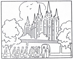 14 Pics Of LDS Temple Outline Coloring Page Temple Coloring Page