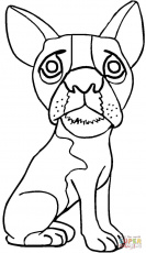 Pug coloring page | Free Printable Coloring Pages