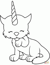 Caticorn coloring page | Free Printable Coloring Pages