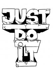 Nike Just Do It Coloring Page