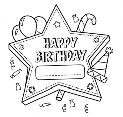 Happy Birthday Bear Coloring Pages | Happy birthday printable, Happy  birthday coloring pages, Coloring birthday cards