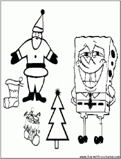 Spongebob Christmas Coloring Pages Picture – Spongebob Christmas