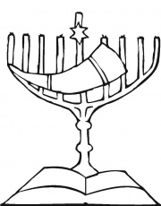 Hanukkah Menorah Coloring Page Hanukkah Pictures To Color Hanukkah