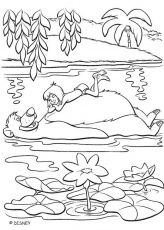 jungle book coloring page
