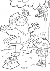 dora the explorer coloring pages | Creative Coloring Pages