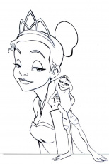 Free Printable Disney Princess And The Frog Coloring Pages