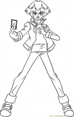 Coloring Pages How To Draw Jaden Step 7 (Cartoons > Yu-Gi-Oh