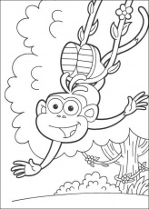 DORA THE EXPLORER coloring pages - Happy Boots the Monkey