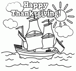 Happy Thanksgiving Coloring Pages Printables - Picture 7 – Happy