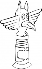Coloring page Totem Pole - img 16187.