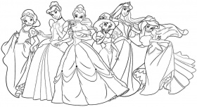 Colouring Pages Disney Princess Printable Free For Kids & Boys #