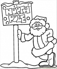 north pole coloring pages
