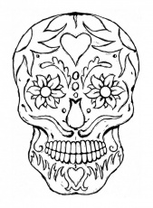 day of the dead printables coloring pages