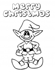Download Elf Merry Christmas Coloring Pages Or Print Elf Merry