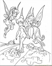 Printable Coloring Pages Tinkerbell Fairies