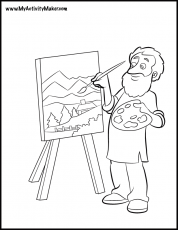 art coloring page