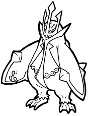 empoleon coloring pages