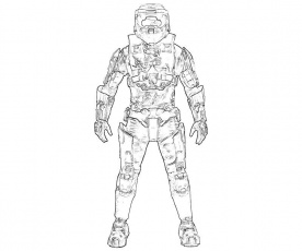 halo 3 coloring pages