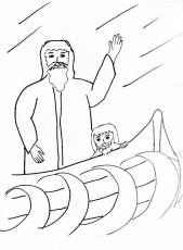 Bible Story Coloring Page for the Apostles and the Storm | Free