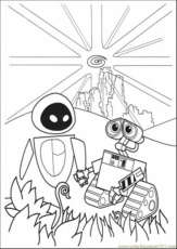 Coloring Pages Wall E And Eva Saved The Planet (Cartoons > Wall-E