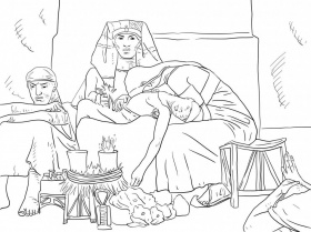 Joseph Interpreting The Pharaoh 39 S Dream Coloring Online Super