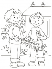 Happy Diwali Free Coloring Pages 2014, Coloring Sheets for Kids