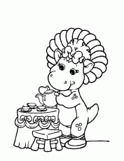 coloring pages - Cartoon » Barney (926) - Baby Bop