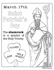 Pipe Cleaner Shamrocks and Coloring Page Activity for St. Patricks