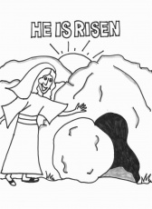 christian religious easter coloring page for children pascua