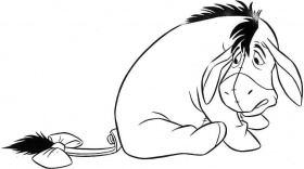 Pix For > Cute Baby Eeyore Coloring Pages