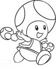 toad from mario coloring pages
