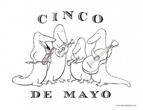 Cinco De Mayo Coloring Pages And Paper Mache Maracas Craft Yahoo