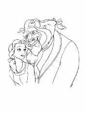 coloring pages - Cartoon » Beauty and the Beast (560) - Belle and