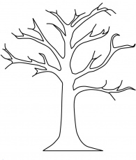 coloring pages of leaves for trees