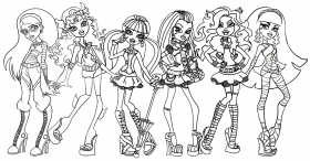 Monster High Coloring Pages - Free Coloring Pages For KidsFree