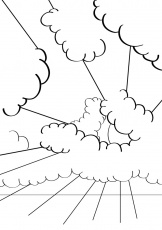 cloud coloring page