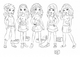 Free Lego friends coloring Pages