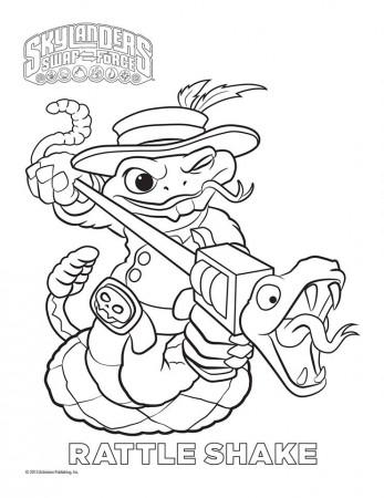 Skylanders Giants Magic Series1 Ninjini Coloring Page | Free ...