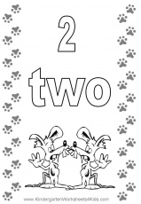 Number 2 coloring pages for kids – Preschool | Free Coloring Pages
